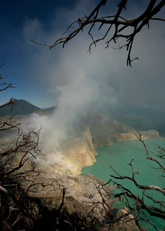 A general view of Kawah Ijen